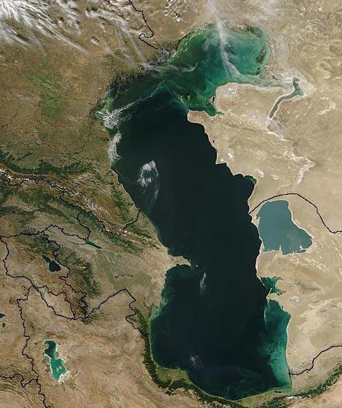 نام ضد ایرانی روی دریاچه مازندران
